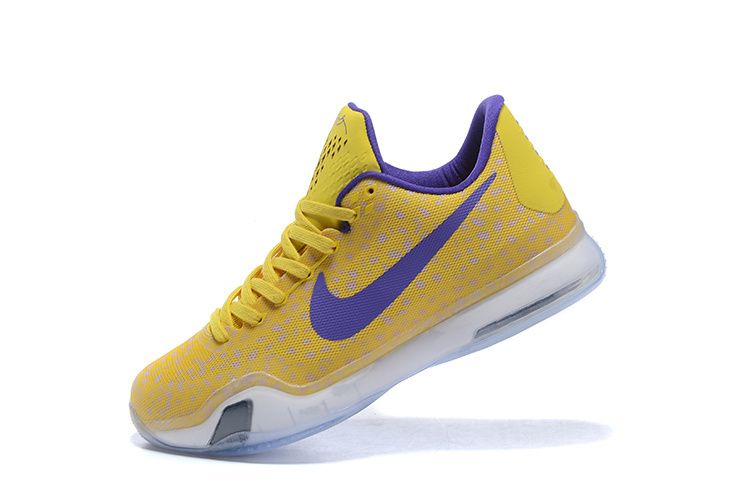 the latest 175f1 5760f 2017 Sale New Kobe 10 X ID Using Safari Print Sonic Yellow Court Purple  White Cheap