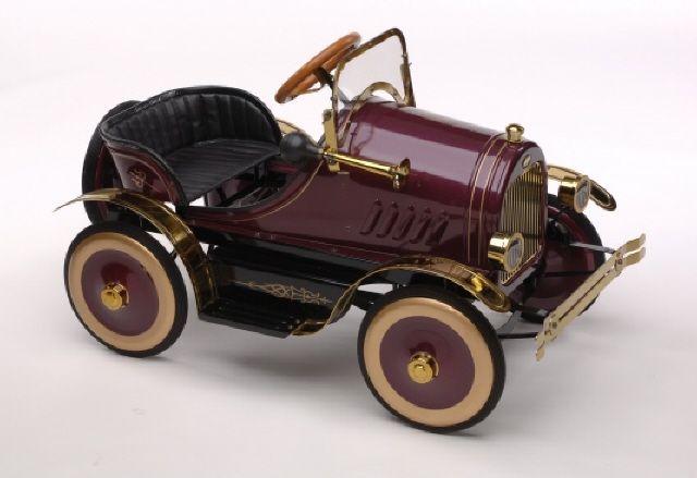 carrinho de pedal burgundy roadster