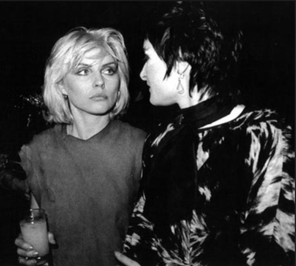 Debbie Harry and Siouxsie Sioux