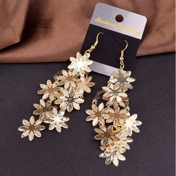 e0584b6bc Buy Beautiful Women's Vintage Alloy Multi-layer Snowflakes Dangle Hook  Earrings Jewelry at Wish - Shopping Made Fun