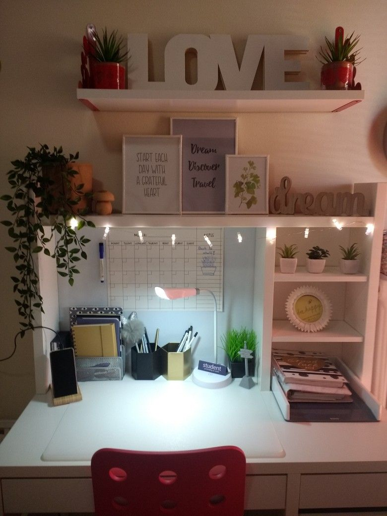 Photo of Micke IKEA desk decor for teenager girl