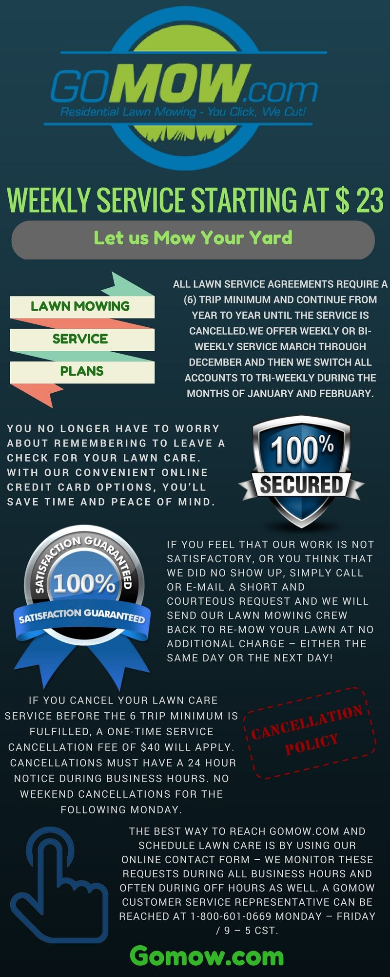 Gomow Offers A Variety Of Service Options For Lawn Mowing To Serve