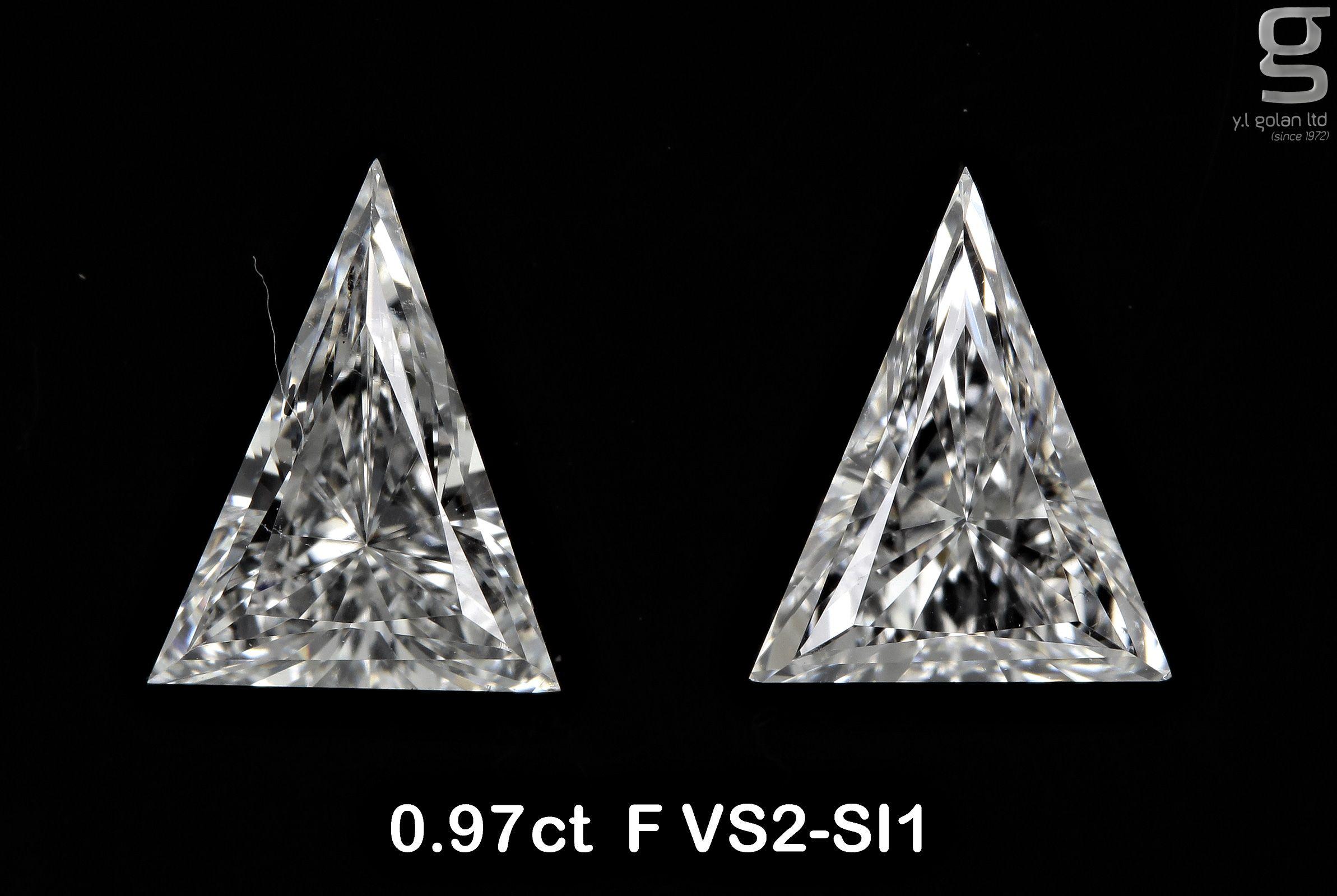 0 97 Ct Arrow Diamond Pair