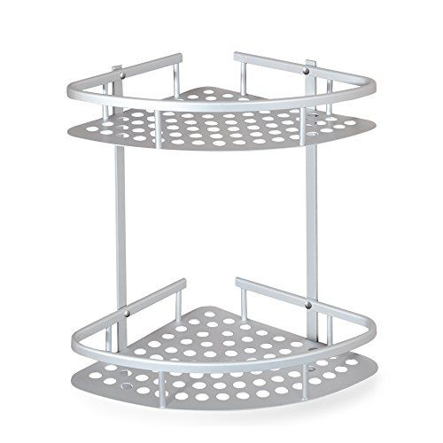 Crw Shower Corner Caddy Shelf 2 Tier Bathroom Shelves Kitchen Storage Basket Hold Kitchen Basket Storage Bathroom Storage Organization Bathroom Storage Shelves