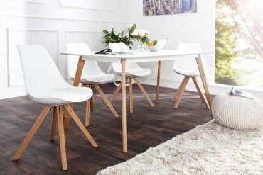 Retro Stuhl Scandinavia Meisterstuck Weiss Massivholzbeine Esstisch Retro Stuhl Design Wohnzimmer Sofa