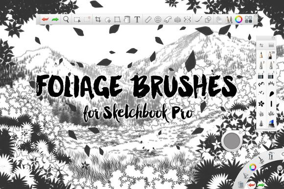 Foliage Brushes For Sketchbook Pro