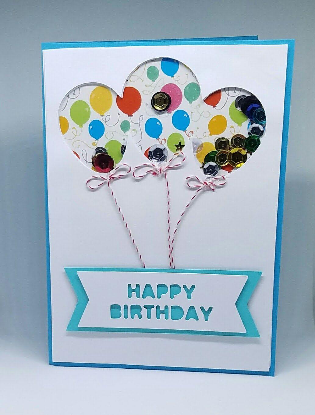 Happy birthday shaker card handmade white elegant greeting card happy birthday shaker card handmade white elegant greeting card custom made greeting card blue balloon birthday card by violettscrapbooking on etsy m4hsunfo