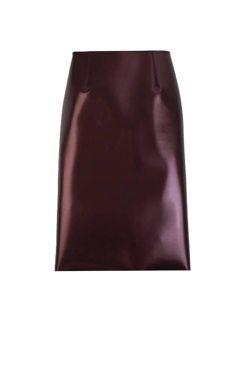 Tibi Bonded Vinyl Pencil Skirt, $725