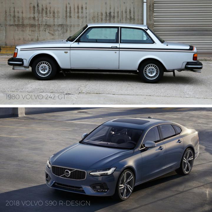 Tbt 1980 Volvo 242 Gt Vs 2018 Volvo S90 R Design Volvo S90