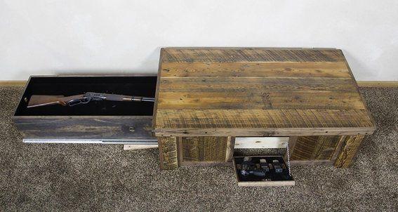 Hidden Gun Storage Cabinet Plans | Hidden Gun Cabinet Coffee Table Hidden gun barn wood coffee