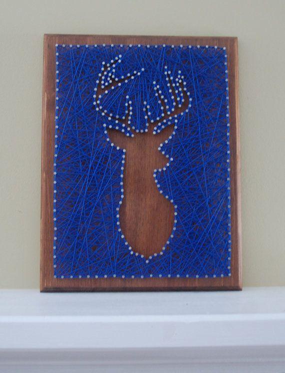 projects ideas dear head. Deer Head String Art by BetweenTheNails on Etsy  art and Craft