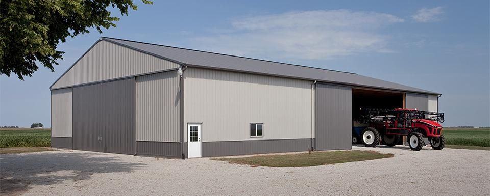 Farm building profile use cold storage machine shed for for Equipment shed