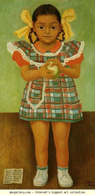 Diego Rivera. Portrait of the Young Girl  Elenita Carrillo Flores. / Retrato de la nina Elenita Carrillo Flores.