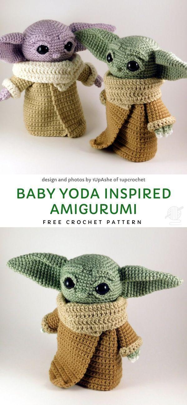 Baby Yoda Inspired Amigurumi Free Crochet Pattern -  - #Amigurumi #Baby #Crochet #Free #Inspired #Pattern #Yoda #knittedtoys
