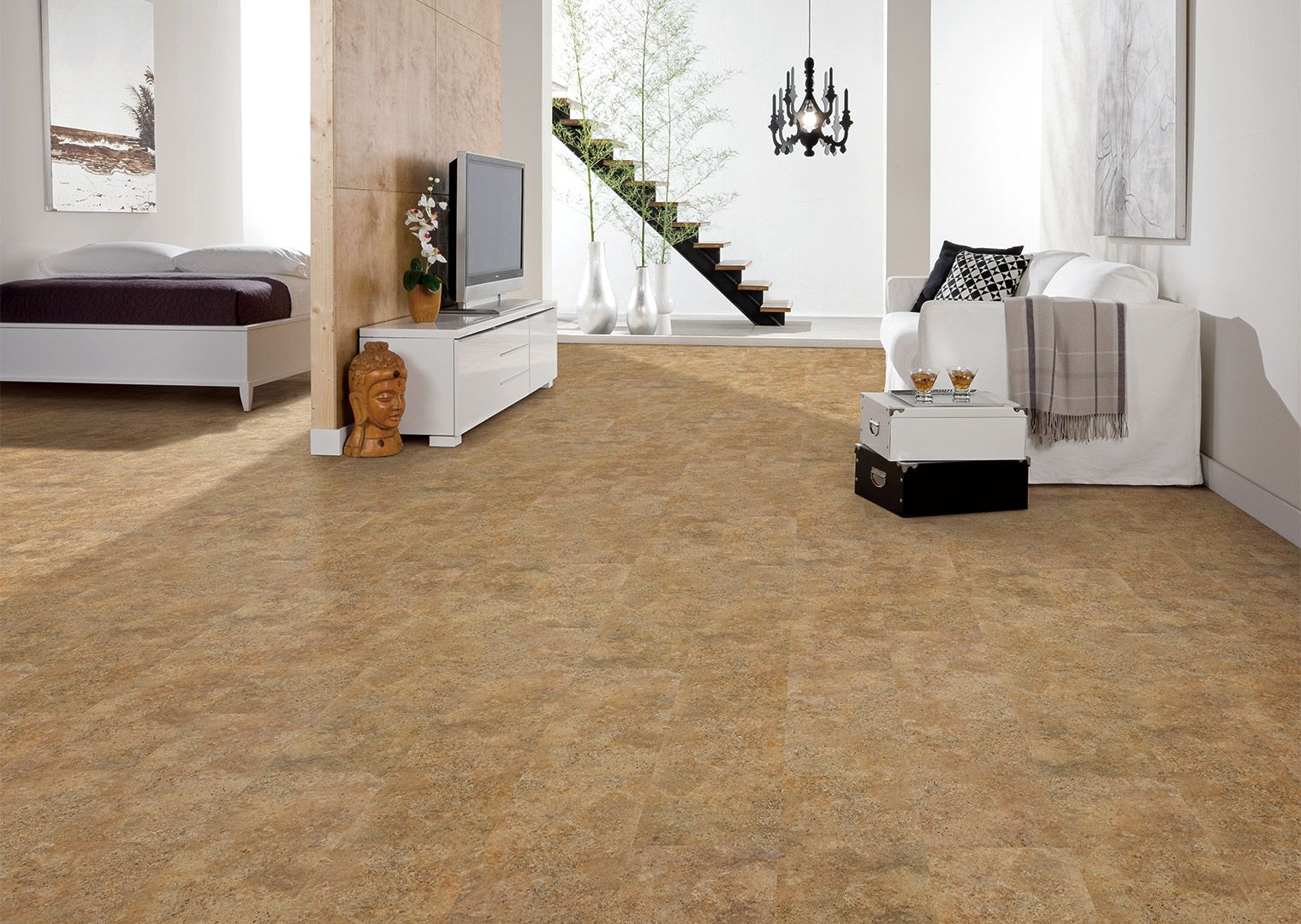 COREtec Tile Noce Travertine 50LVT105 Luxury vinyl tile