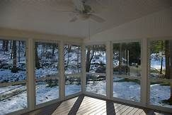 Enclosing A Porch With Storm Windows Enclosed Decks Porches Screened Designs