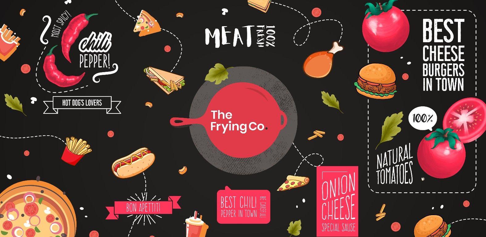 Food Illustration Mural Mural Design Food Illustrations Mural