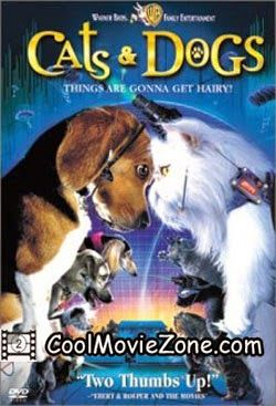 Cats Dogs 2001 Hindi Dubbed Dog Movies Funny Cats And Dogs Dog Cat