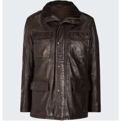 Long leather jackets for men