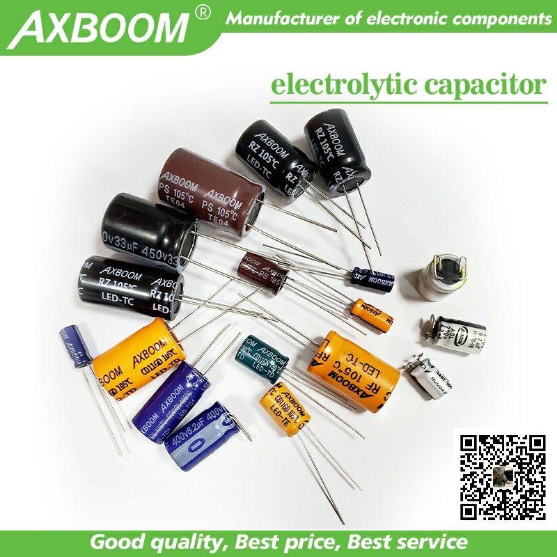 Aluminum Electrolytic Capacitors Axboom Electrolytic Capacitor Capacitors Capacitor