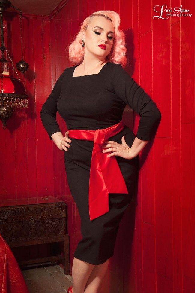 Maria Wiggle Dress in Black Ponte - Plus Size | Shoes, Cool ...
