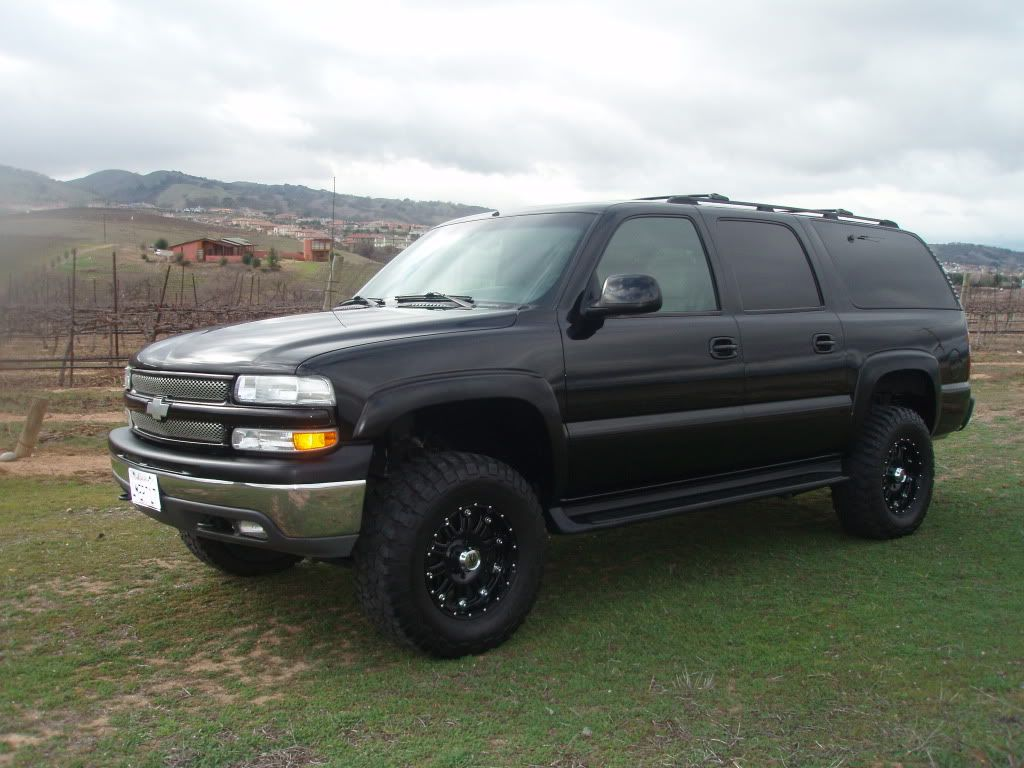 2000 Suburban Lifted Black Awesome Chevy Trucks Chevrolet
