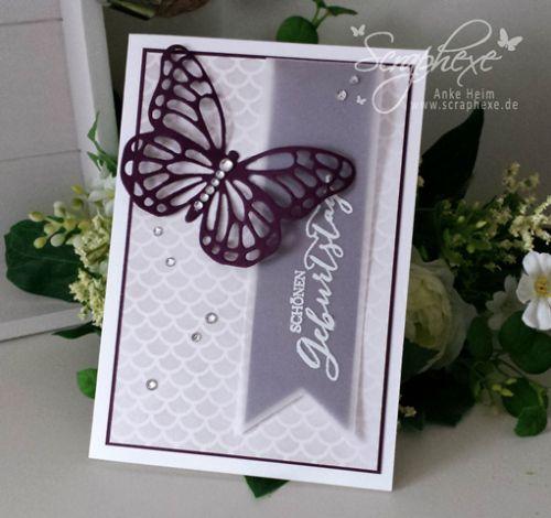 papillon calque mauve
