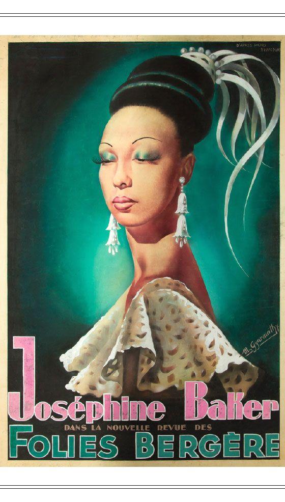 Joséphine Baker poster Folies Bergére. @designerwallace...http://blackberrycastlephotographytm.zenfolio.com/p239235572