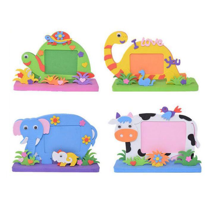 Custom Animal Shape Blank Foam Photo Picture Frames Craft To Decorate