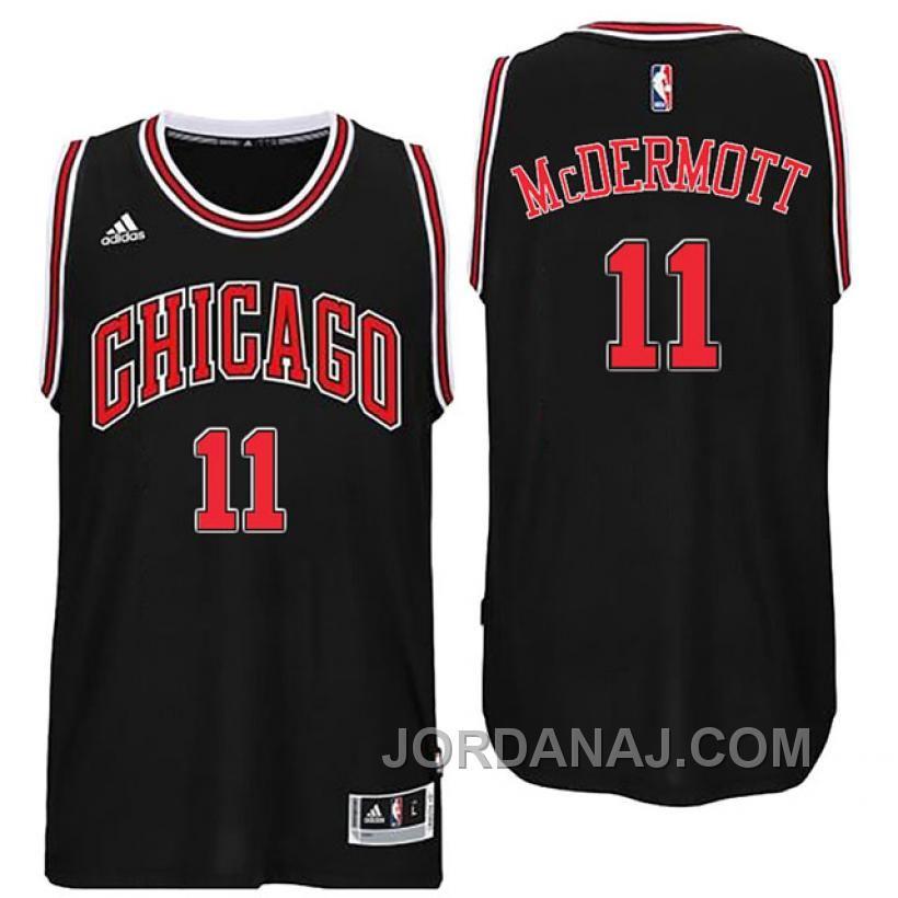 Chicago Bulls #3 Doug McDermott Black Swingman Jersey