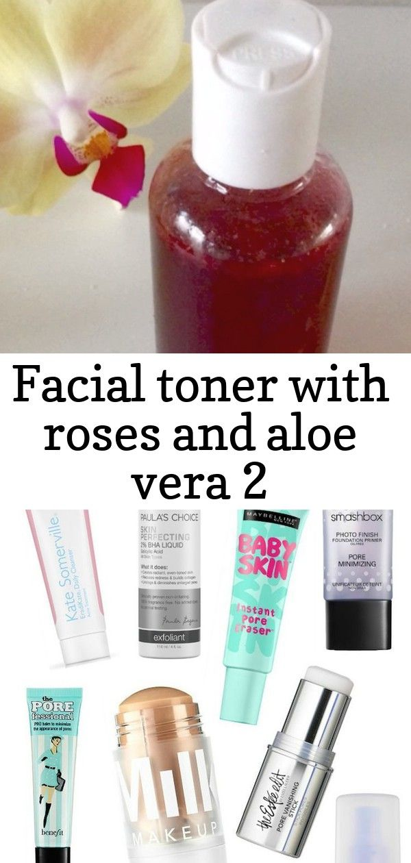 Facial toner with roses and aloe vera 2 This awesome homemade facial toner is purely made of the best natural ingredients full of antioxidants that will brighten up your...