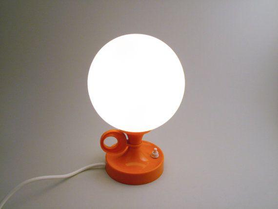 Vintage orange tulip desk lamp panton white glass balloon on an – Tulip Desk Lamp