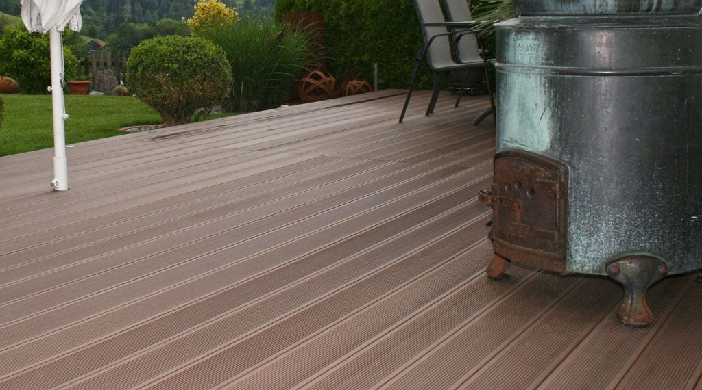 Garden Decking Replacement Cost Deck Building Cost Patio Flooring Patio Design