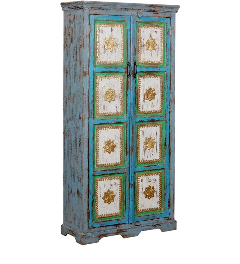 armadio due porte sheesham legno wd-6038182 x 88 x 35 cm | arts of