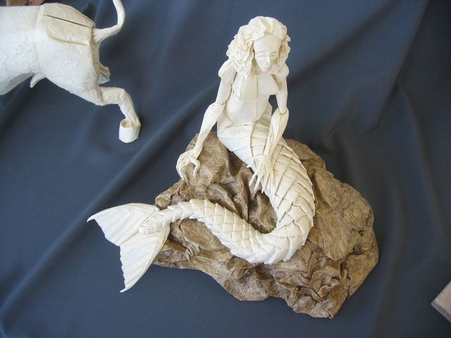 Origami Mermaid How Is It Possible Heart It Pinterest