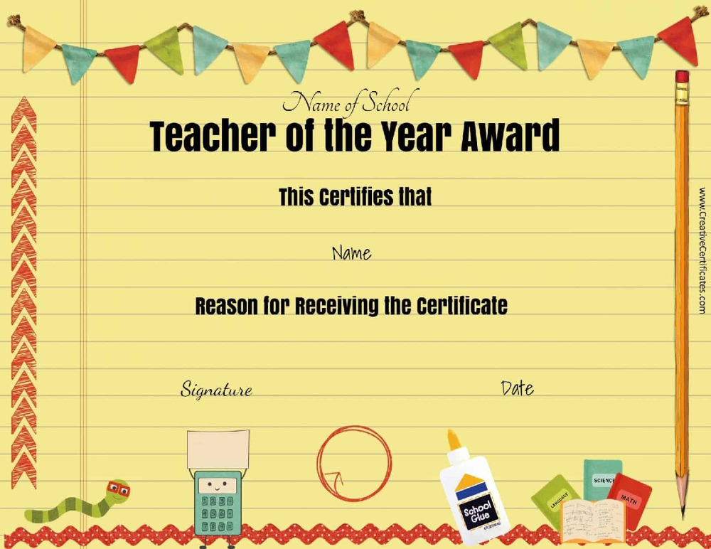 Certificates For Kids Free And Customizable Instant Download Regarding Star Of The Week Cert Teacher Awards Teacher Appreciation Printables School Certificates