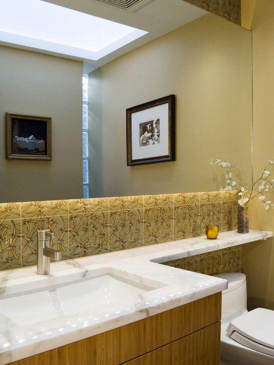 bathroom vanity with shelf over toilet