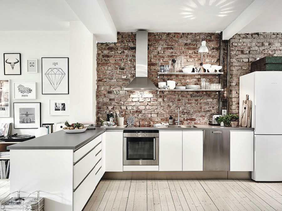 Ideen für Wandgestaltung Küche | Haus | Küche, Küche esszimmer und ...