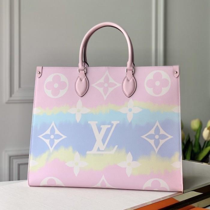Lv Monogram Coated Canvas Escale Onthego Gm M45119 In 2020 Bags Lv Monogram Luxury Purses