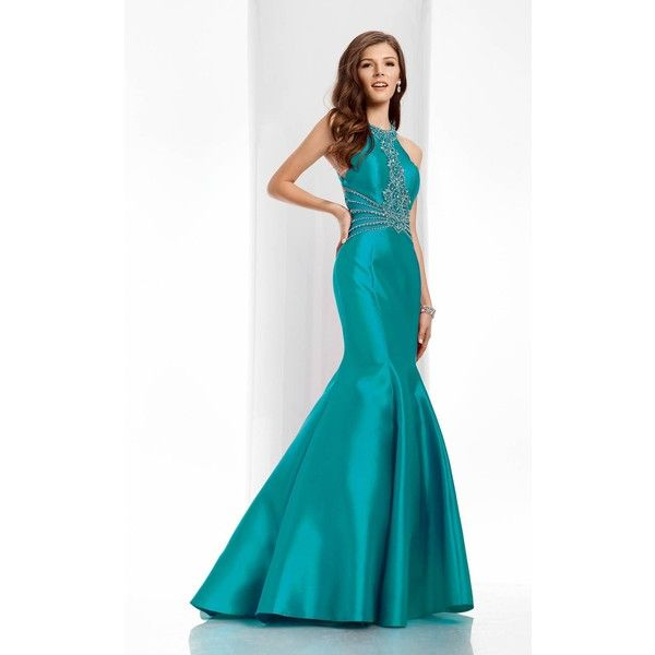 Clarisse 3139 Prom Mermaid Dress Long Halter Sleeveless ($450 ...