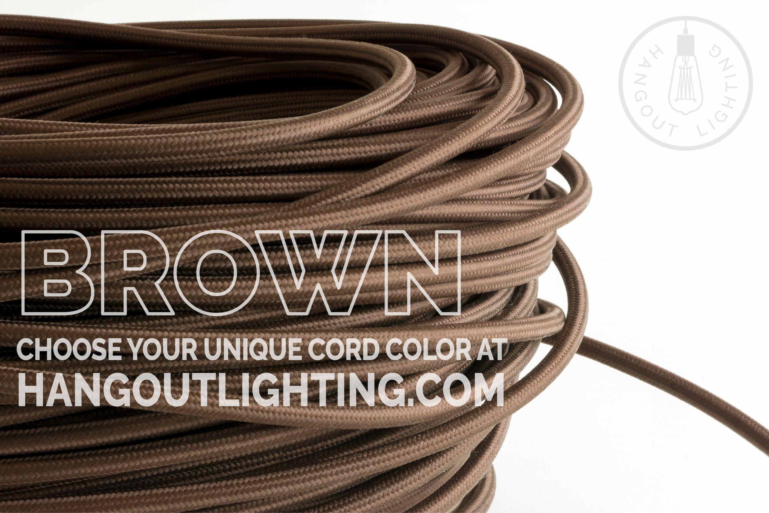 Brown Color Cord Custom Light Fixtures Custom Lighting Light Fixtures
