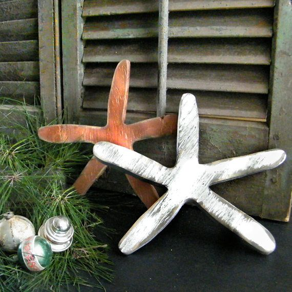 Starfish Distressed Silver Gold Gulf Ocean by SlippinSouthern