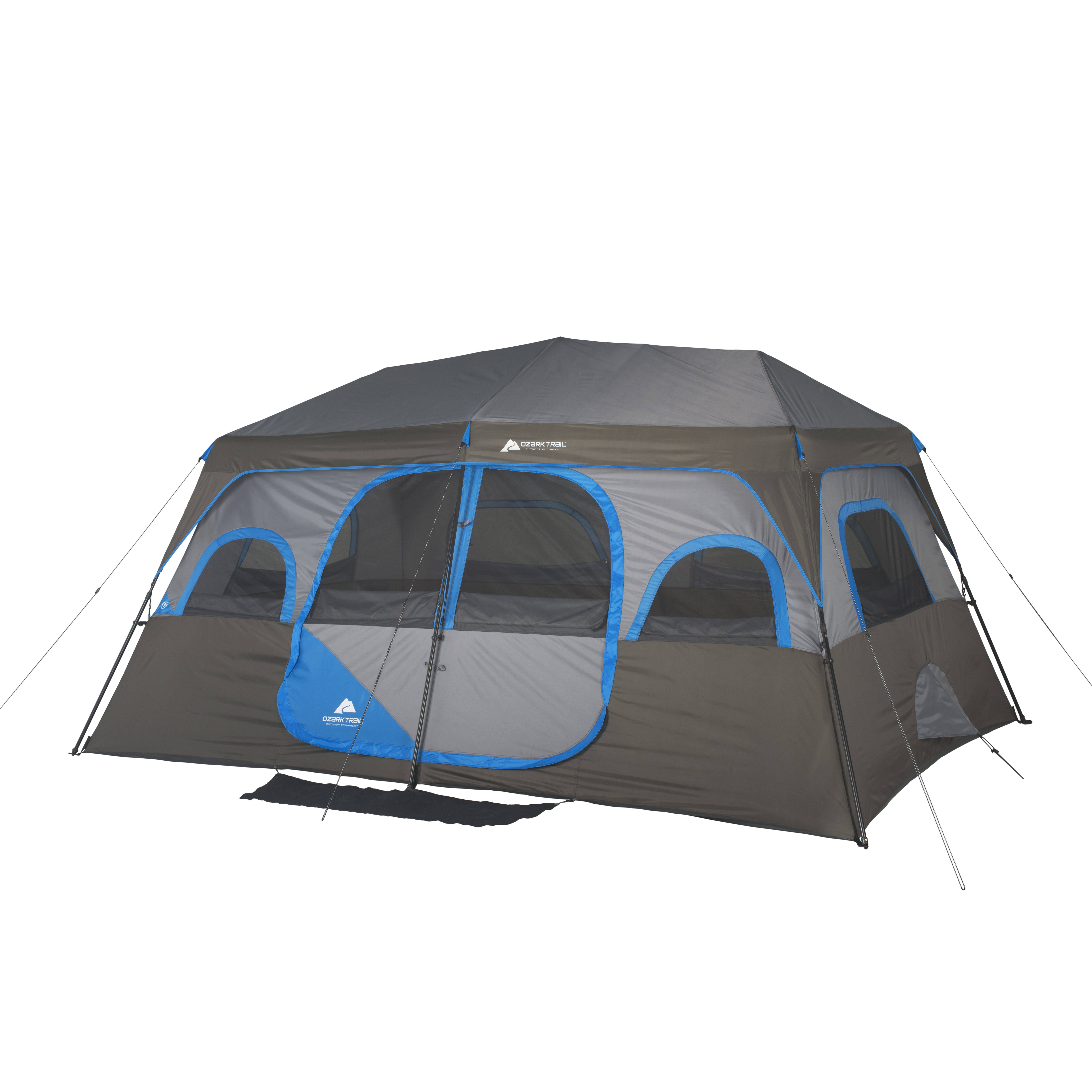 Ozark Trail 16 X 16 Instant Cabin Tent Sleeps 12 Walmart Com Cabin Tent Family Tent Camping Best Tents For Camping