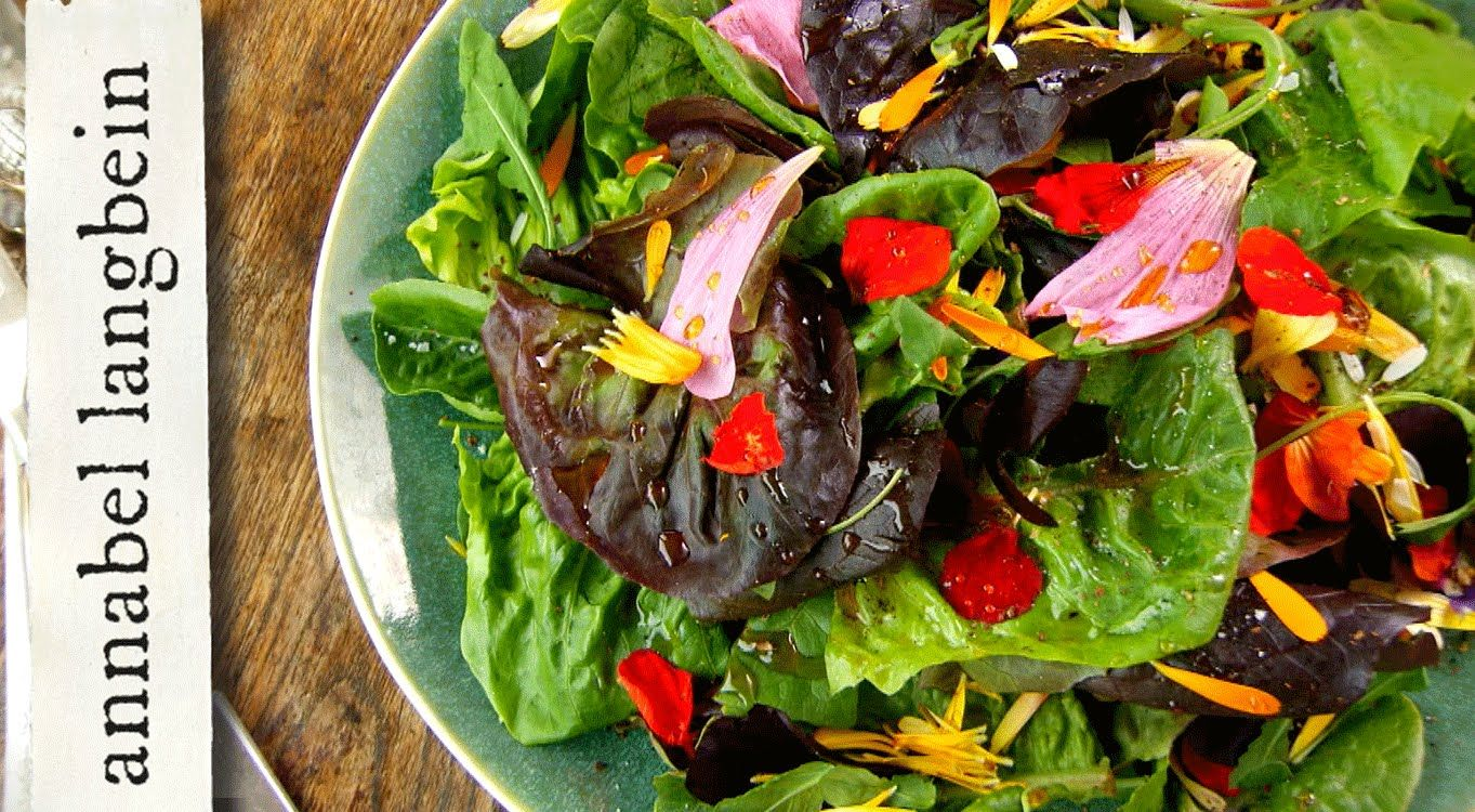 Flower Power Salad recipe by Annabel Langbein /recipes/flower-power ...