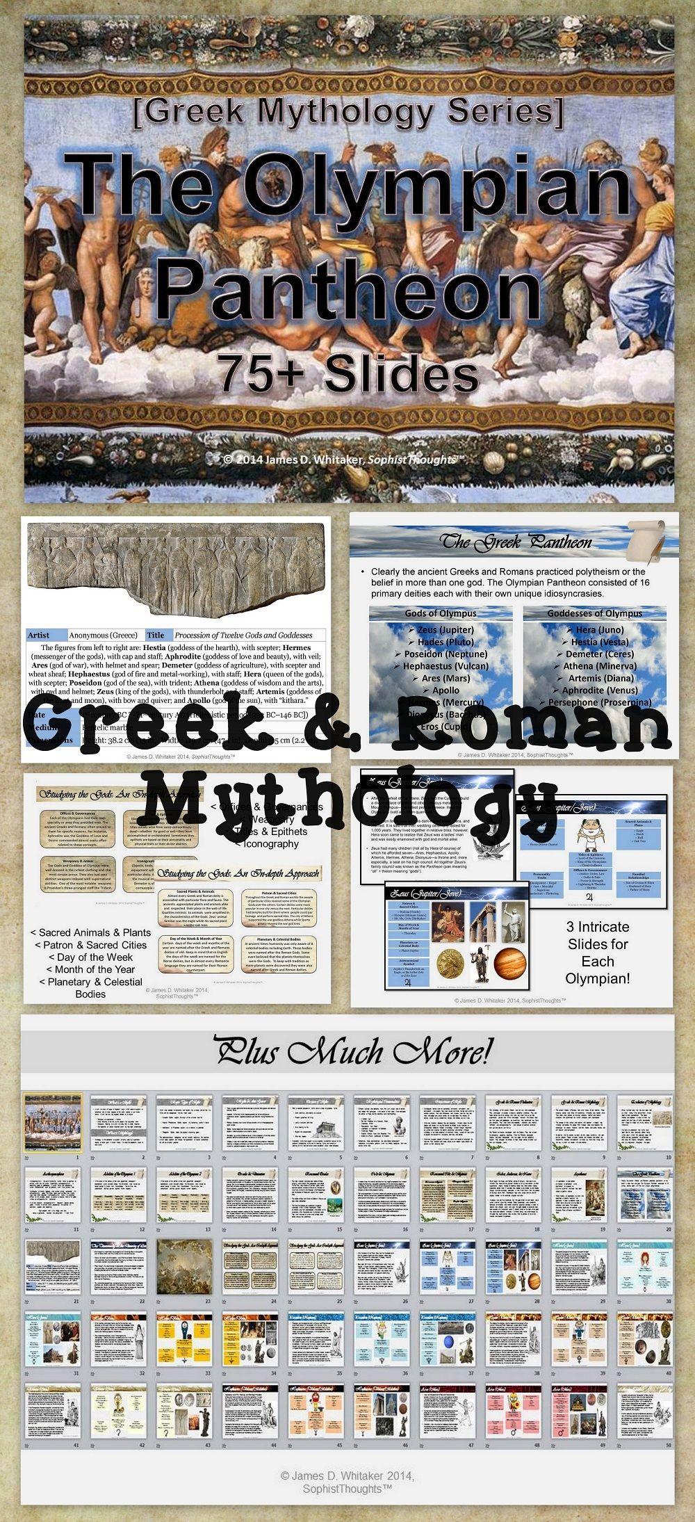 Greek & Roman Mythology Olympian Pantheon Powerpoint