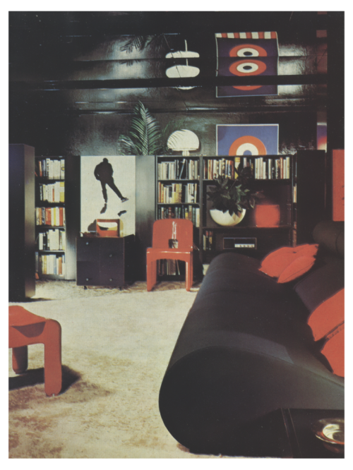 Late 1960s, Early 1970s Living Room.   Retro room, 1960s decor