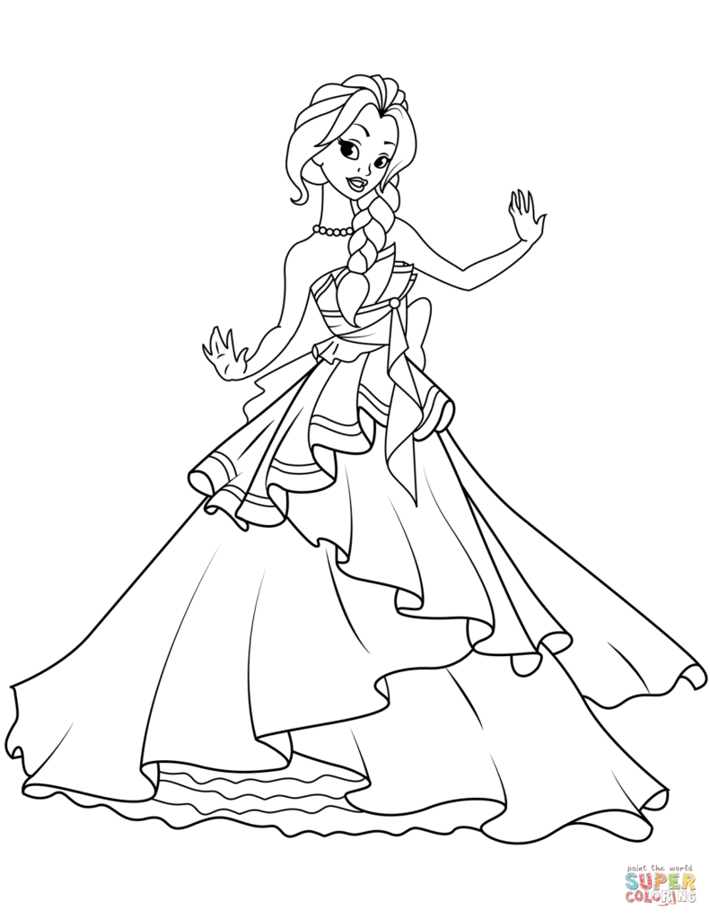 Princess Coloring Pages (With images) Princess coloring