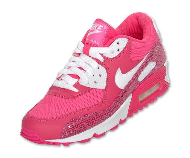 Nike Air Max Des Femmes De 90 Rose Blanc Vif