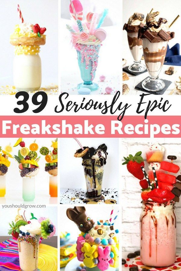 Crazy Milkshake Recipes Ever heard of freakshakes? They're crazy extreme milkshakes topped with decadent, indulgent, and downright naughty things like cake and donuts. Try one of these seriously epic freakshake recipesEver heard of freakshakes? They're crazy extreme milkshakes topped with decadent, indulgent, and...
