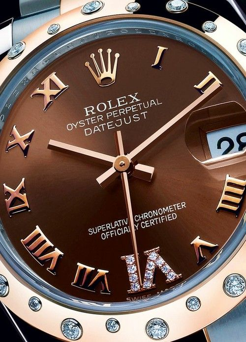 Rolex Oyster Perpetual Datejust rosegold/brown. My rolex is very similar but this one is gorgeous. . -